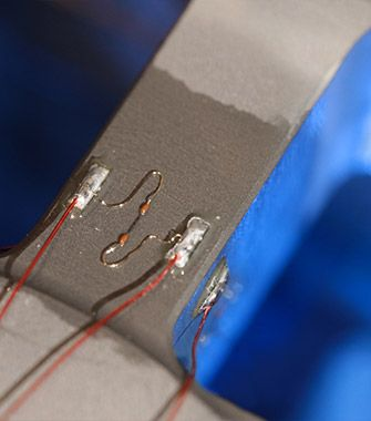 Second stage in strain gage services.