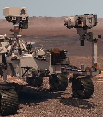 Space Rover on Mars