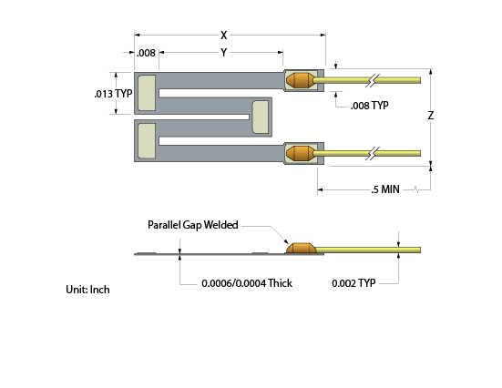 M Shaped Semiconductor Strain Gage